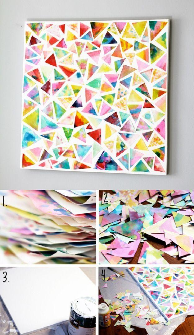 15 Ideias simples de fazer artes de parede