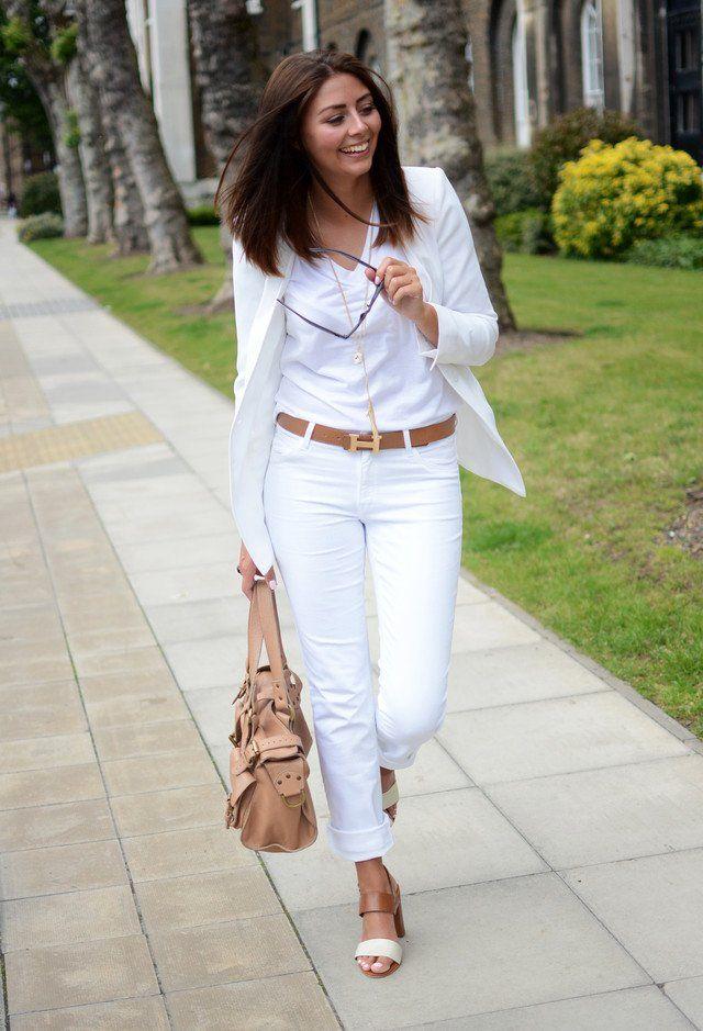 All-White Outfit Idea por Mulheres