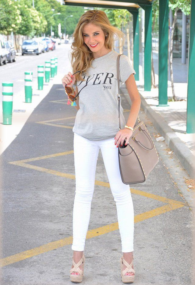Casual Branco Jeans Outfit Idea
