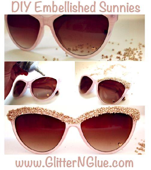 15 Maneiras de fazer óculos de sol diy fresco embelezado