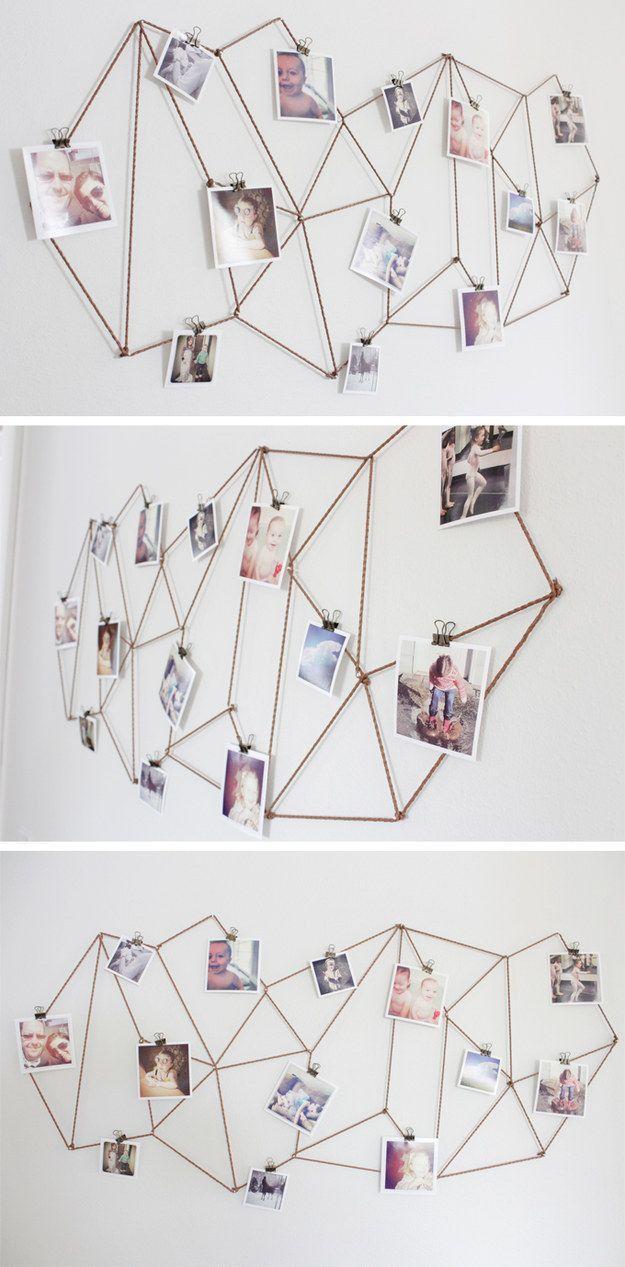 15 Maneiras para fazer paredes de fotografias