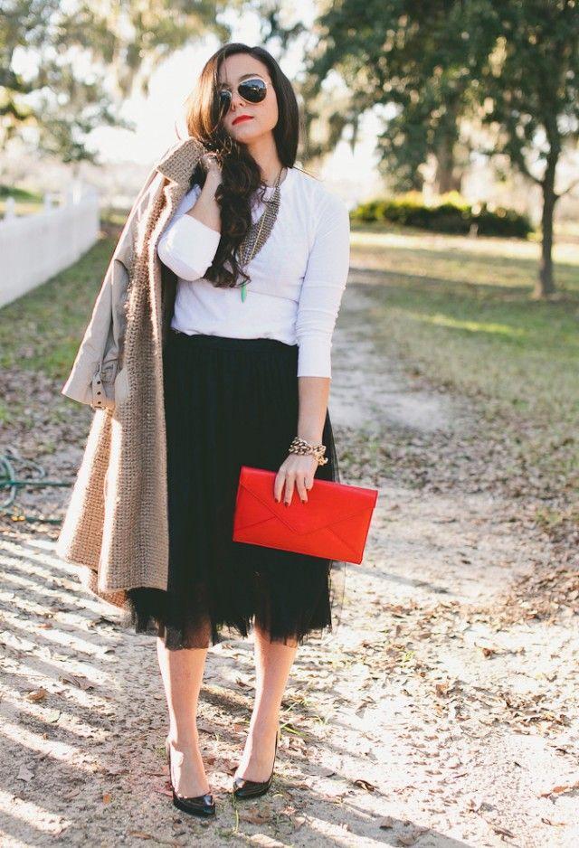 Como Usar o Tulle Saias: olhar formal e elegante