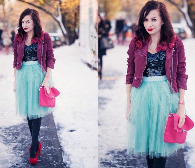 Como usar as saias de tule: Moda colorida