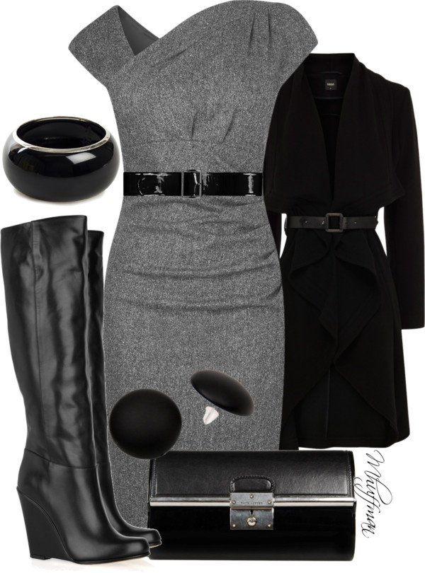 Preto e cinza Outfit