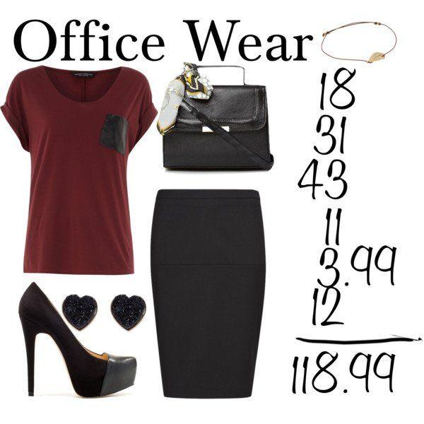 T-shirt Borgonha e preto Pencil Skirt