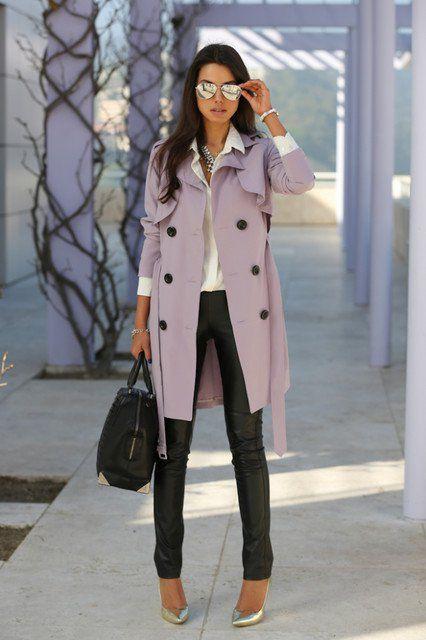 Pastel Outfits Trench Coat para Days trabalho