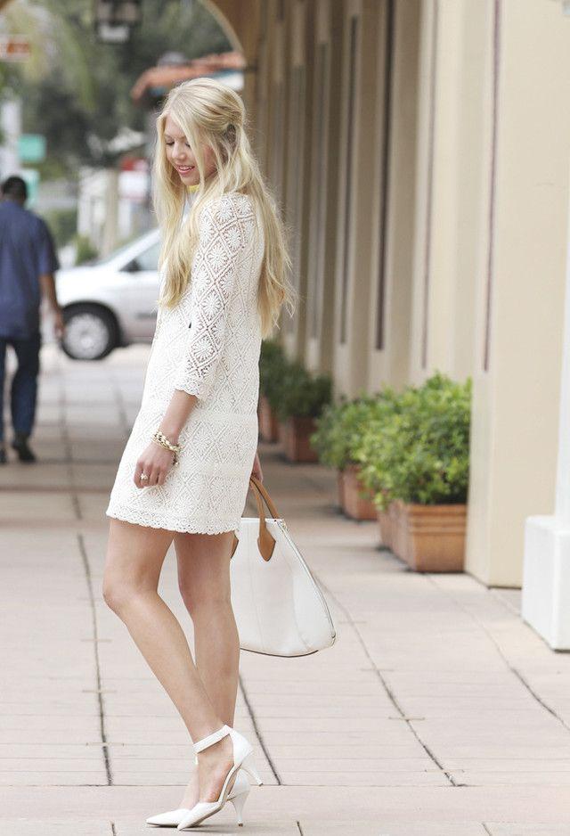 16 Lindo ideias brancas roupa vestido para a primavera / verão 2014