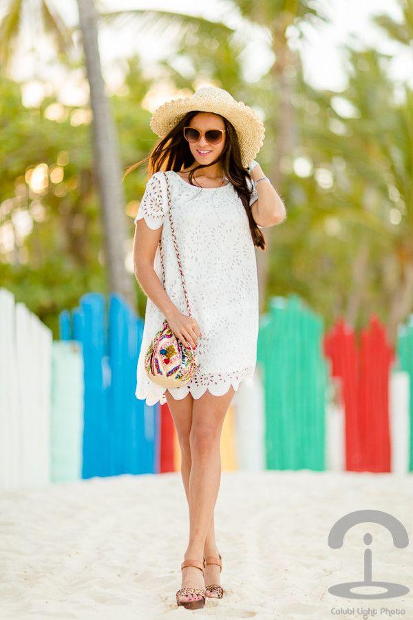 Legal vestido branco por Mulheres