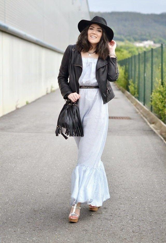 Vestido branco equipamento com revestimento de couro preto