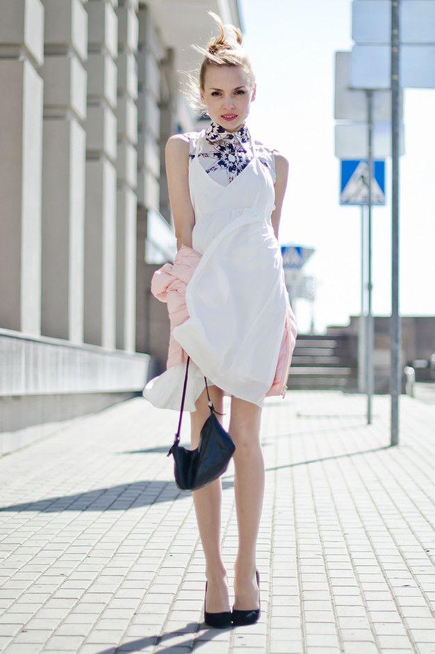 Elegante vestido branco Outfit