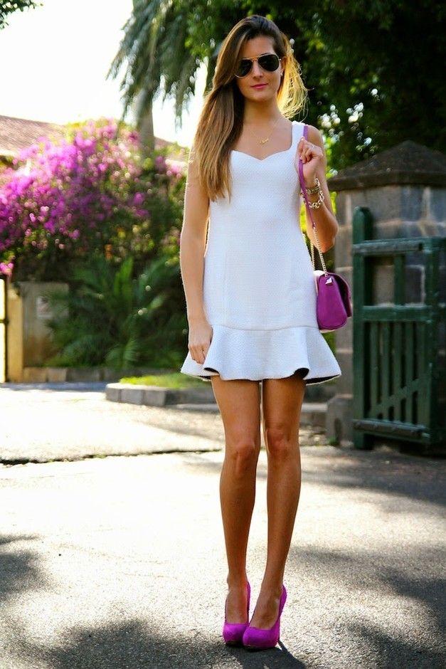 Consideravelmente vestido branco Outfit