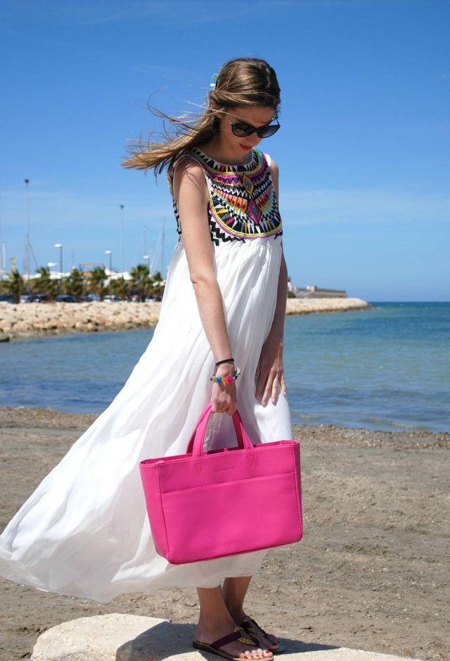 Boho Chic Vestido branco Outfit