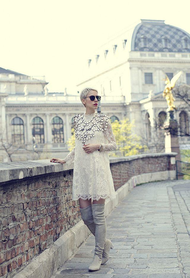 Fabuloso vestido branco Outfit