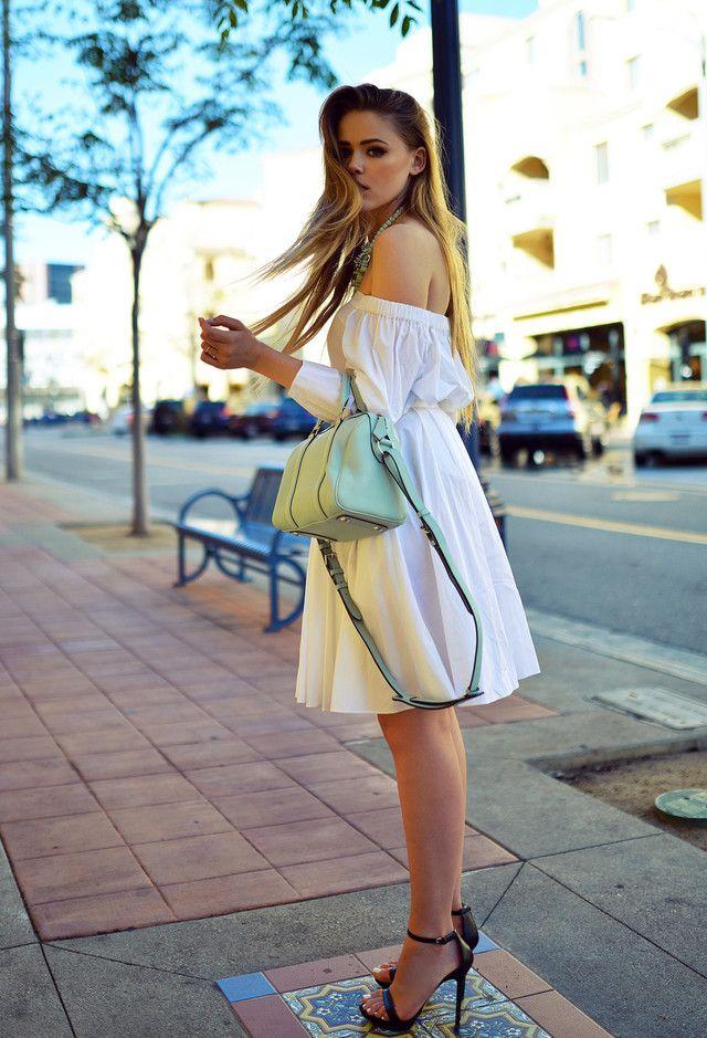 Idea Outfit doce com vestido branco