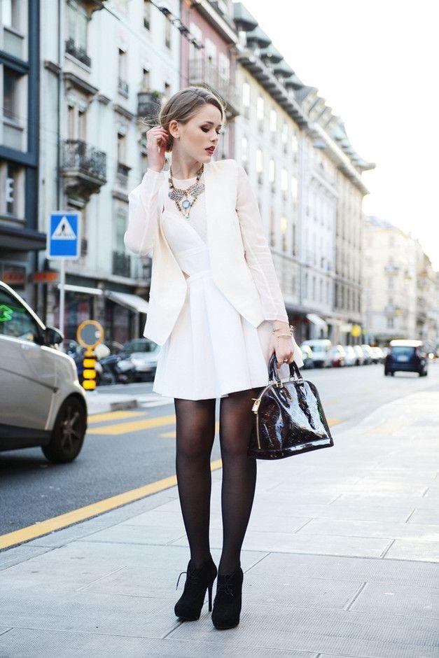 Sofisticada Idea vestido branco Outfit