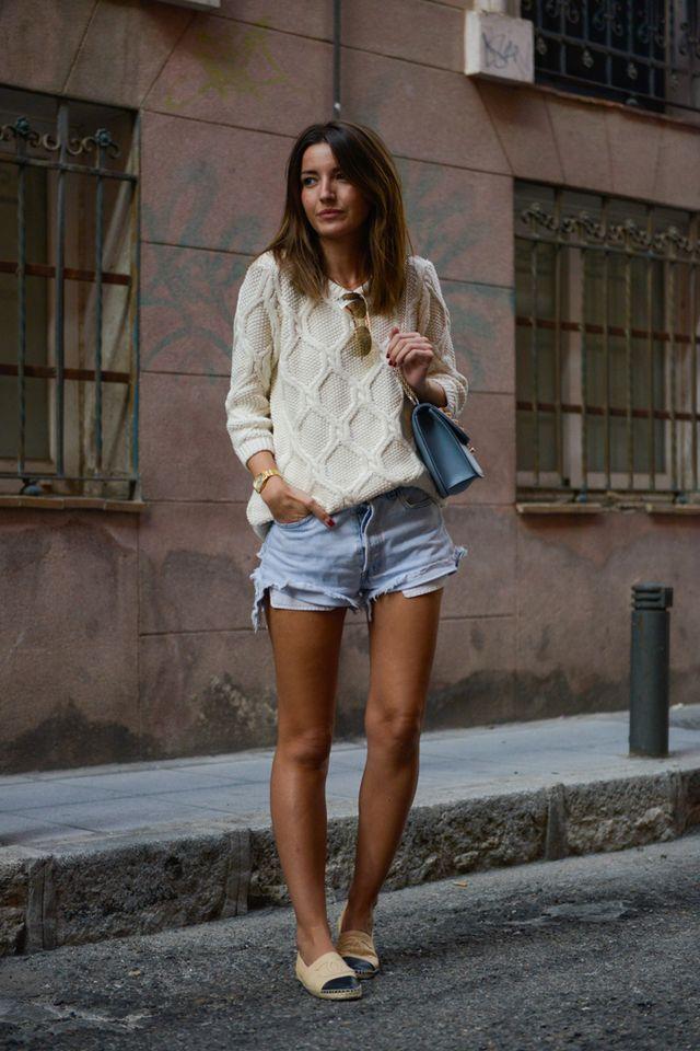 Camisola geométrica e pálido Shorts via