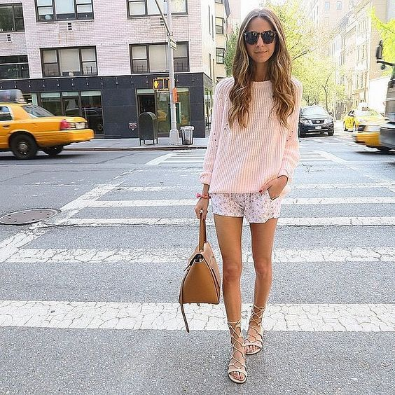 Camisola e Shorts via-de-rosa