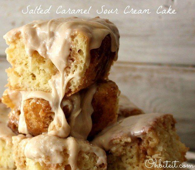 Caramelo salgado bolo de creme de leite