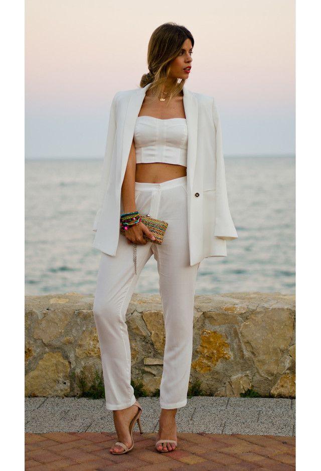 Todas as ideias combinadas brancos para a moda Primavera Aparência à moda Clutch