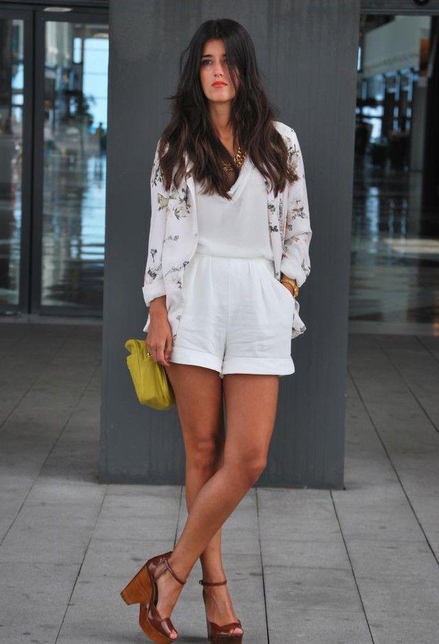 Todas as ideias combinadas brancos para a moda Primavera Aparência estampas florais