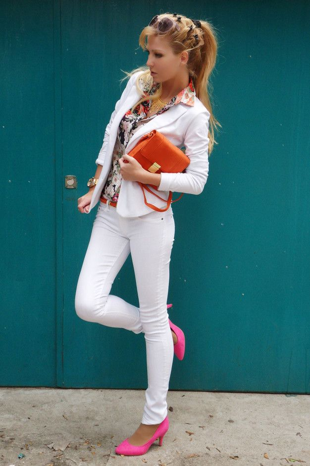 Todas as ideias combinadas brancos para a moda Primavera Aparência Pastel e florais