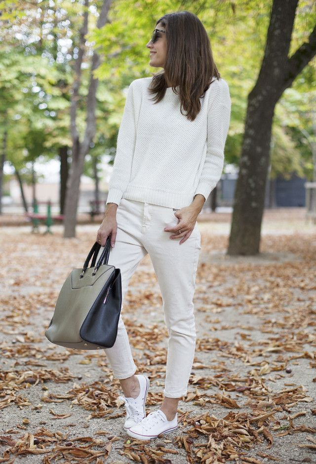 Todas as ideias combinadas brancos para a moda Primavera Aparência Grande Handbag