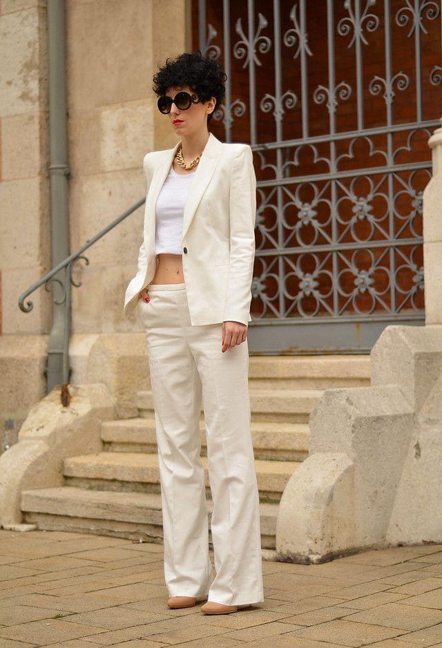 Todas as ideias combinadas brancos para a moda Primavera Aparência Top Curto