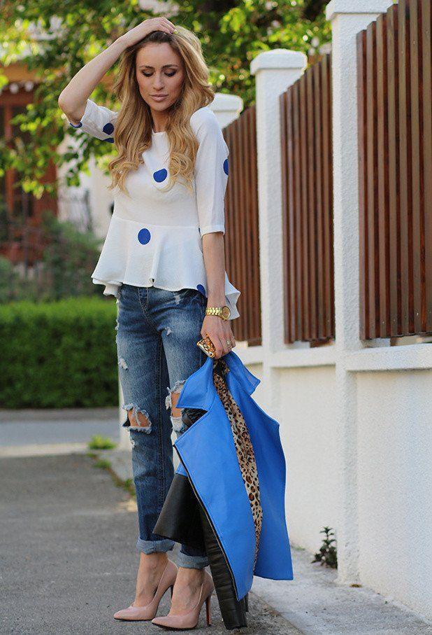 Impressionante rasgado Idea Jeans Outfit