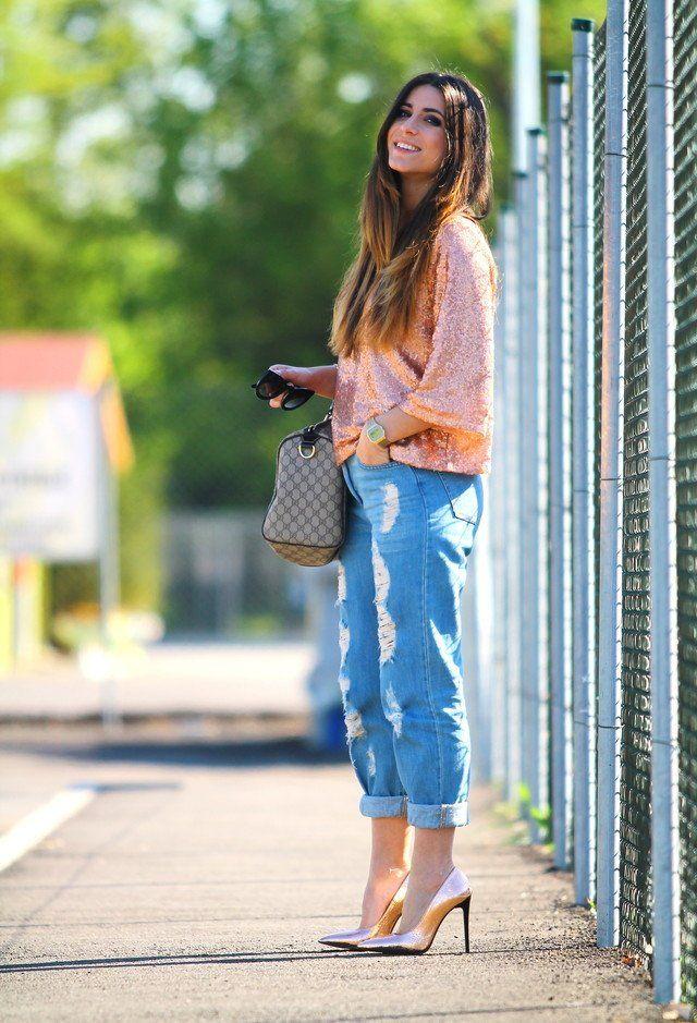 Idea equipamento à moda com Jeans