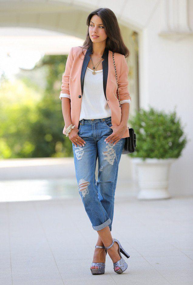Idea roupa casual com Blazer e Jeans