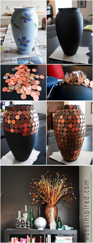 17 Vasos diy criativas para manter flores