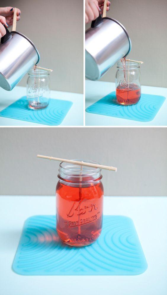 17 Tutoriais diy para fazer velas em frascos de pedreiro