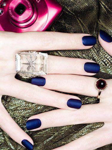 17 Lindo unhas azuis da arte