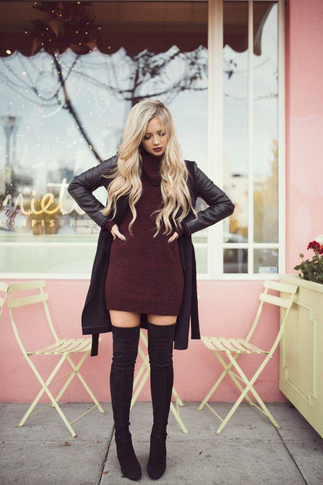 Borgonha-malha-dress via