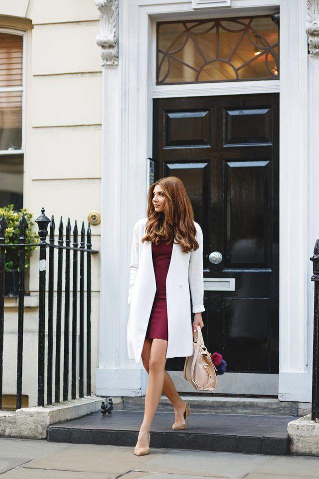 Borgonha-vestido-e-branco-coat via