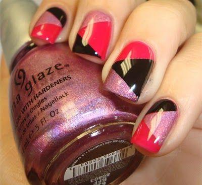 Nails Tri-coloridas