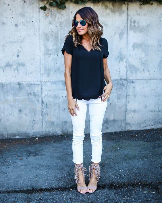 Fácil Black and White Outfit via
