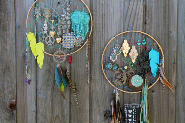 DIY Dream-Catcher organizador de jóias