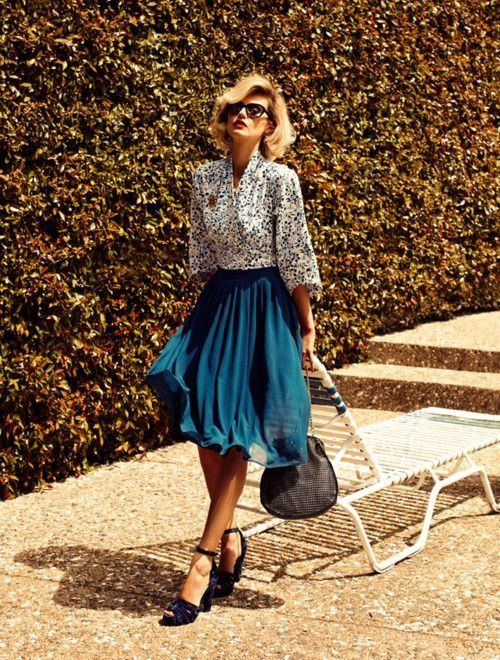 Elegante saia de Midi Outfit para o Outono