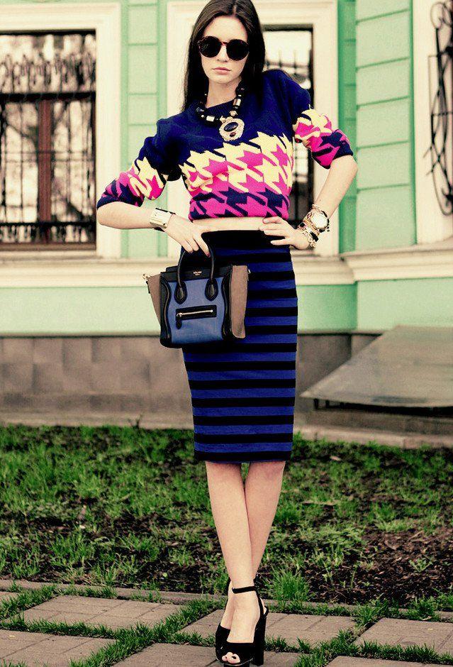 Idea Outfit na moda com Midi Pencil Skirt