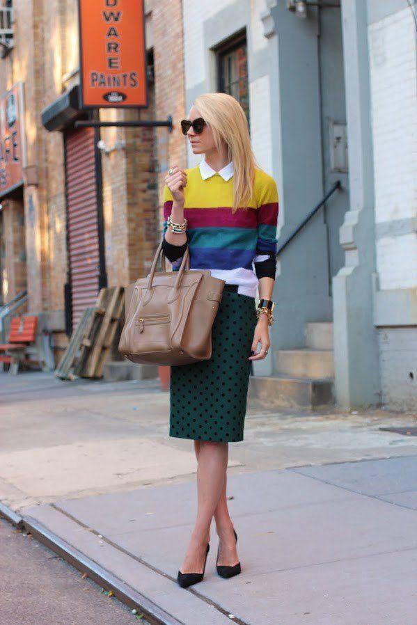 Elegante Idea saia de Midi Outfit por Mulheres