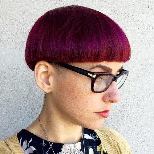 Vermelho e rosa do cabelo Bacia