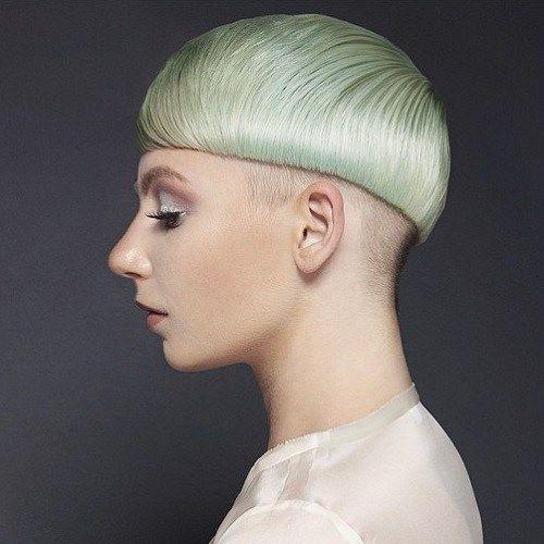 Misture cabelo colorido Bacia