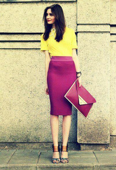Idéia brilhante colorido Oufit por Mulheres
