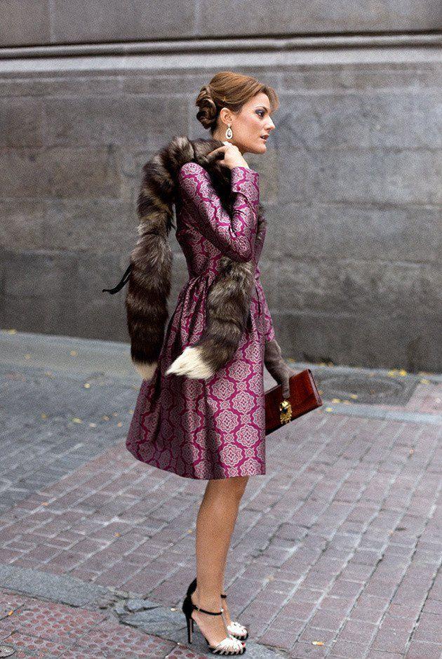 Impresso Outfit Vintage por Mulheres