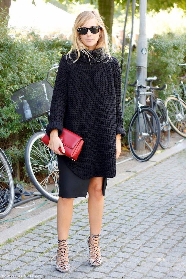 Roupa preta com gaiola Shoes