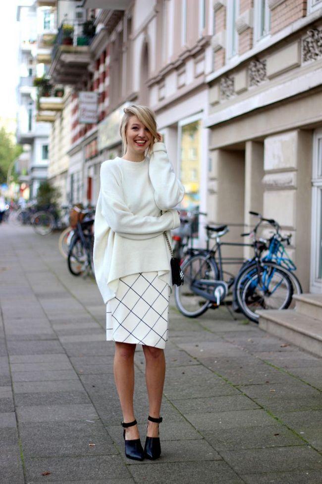 Branco Oversized Sweater