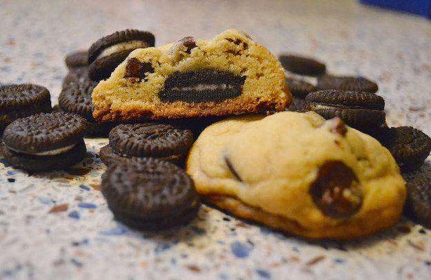 Mini-Oreo enchidos cookies