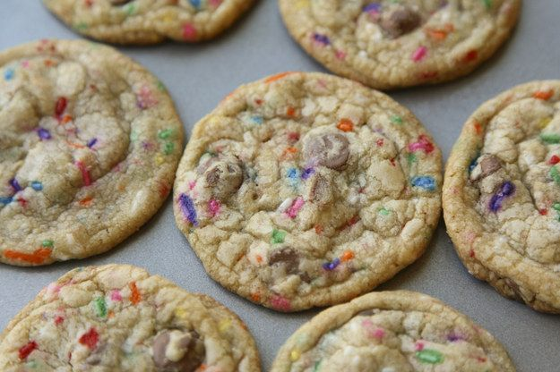 Chocolate Chip Funfetti cookies