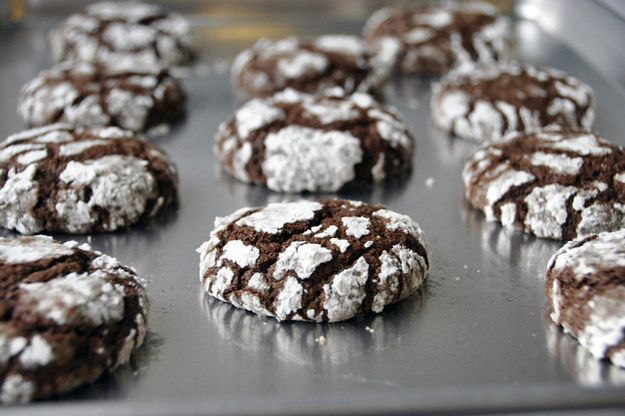 Os cookies Crinkle Chocolate